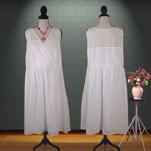 NWOT Lane Bryant White A-Line Dress Size 20